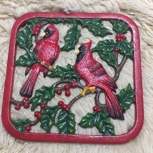 Cast Iron Cardinal Plaque Trivit Hotplate